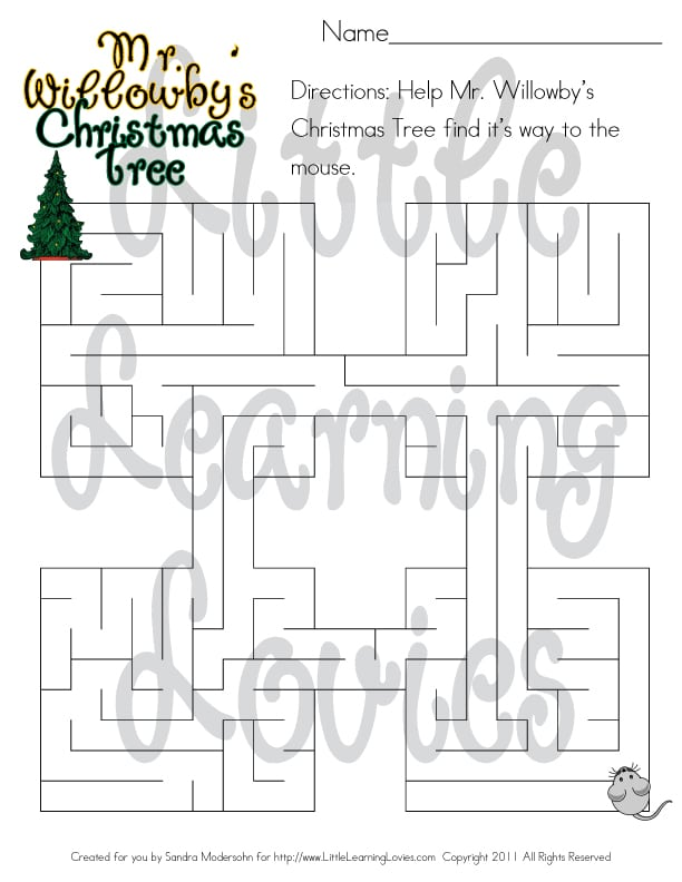 Mr. Willowby\'s Christmas Tree and A Surprise! - Little Learning Lovies