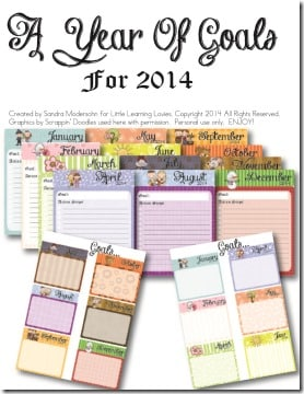 Free Goal Planner from Little Learning Lovies