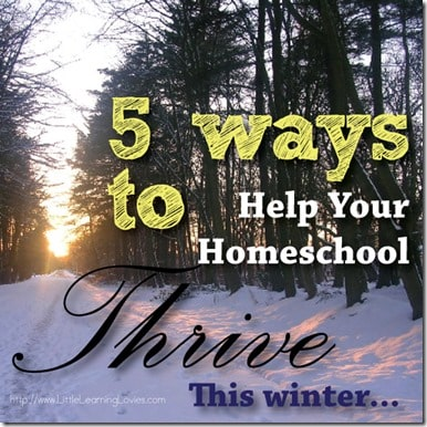 Help your homeschool thrive this winter with these 5 tips!