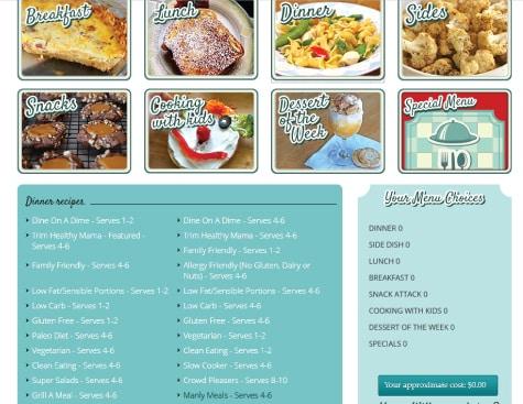 BuildAMenu_DinnerScreen