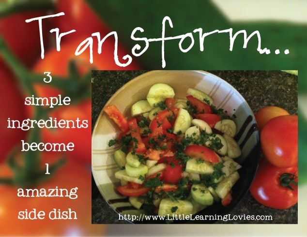Quick easy Side Dish from 3 simple fresh ingredients