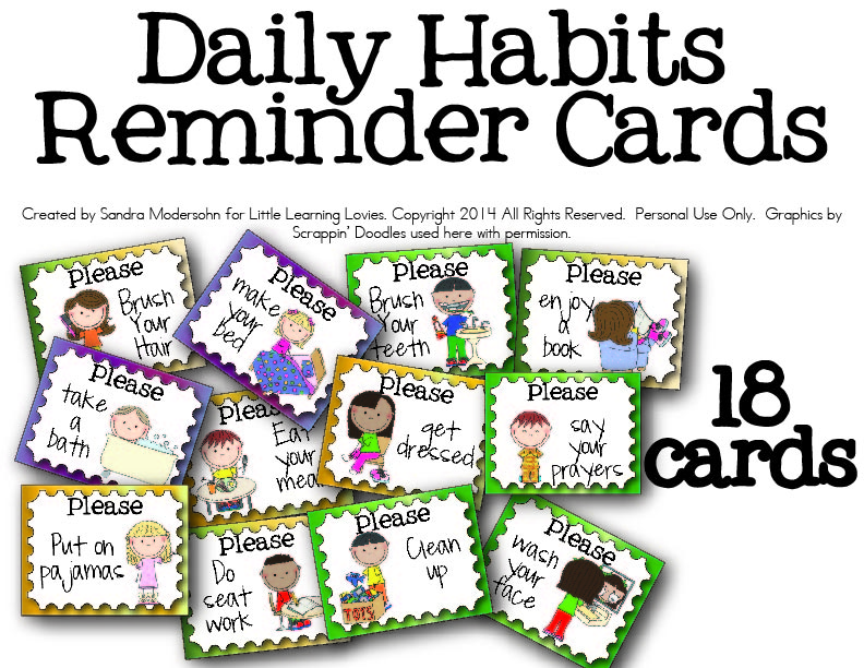 Free Daily Routine Cards for Kids - Look! We're Learning!