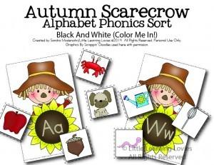 Autumn Scarecrow Alphabet Match-Color-01