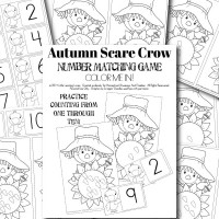 {FREE} Autumn Scarecrow Number Matching Game