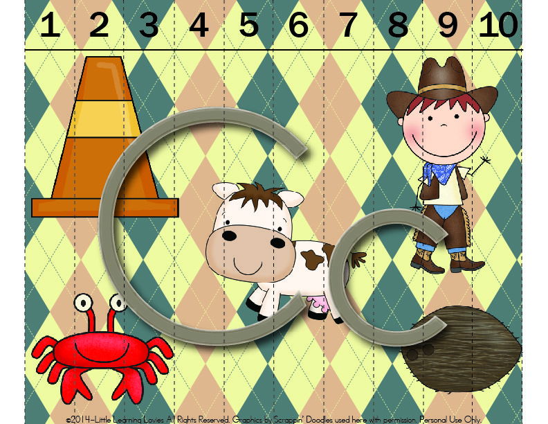 Free Sounds Of C Puzzle from Little Learning Lovies