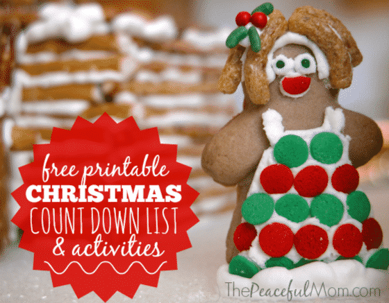 More fun ideas here: http://thepeacefulmom.com/christmas-countdown-activities-list/