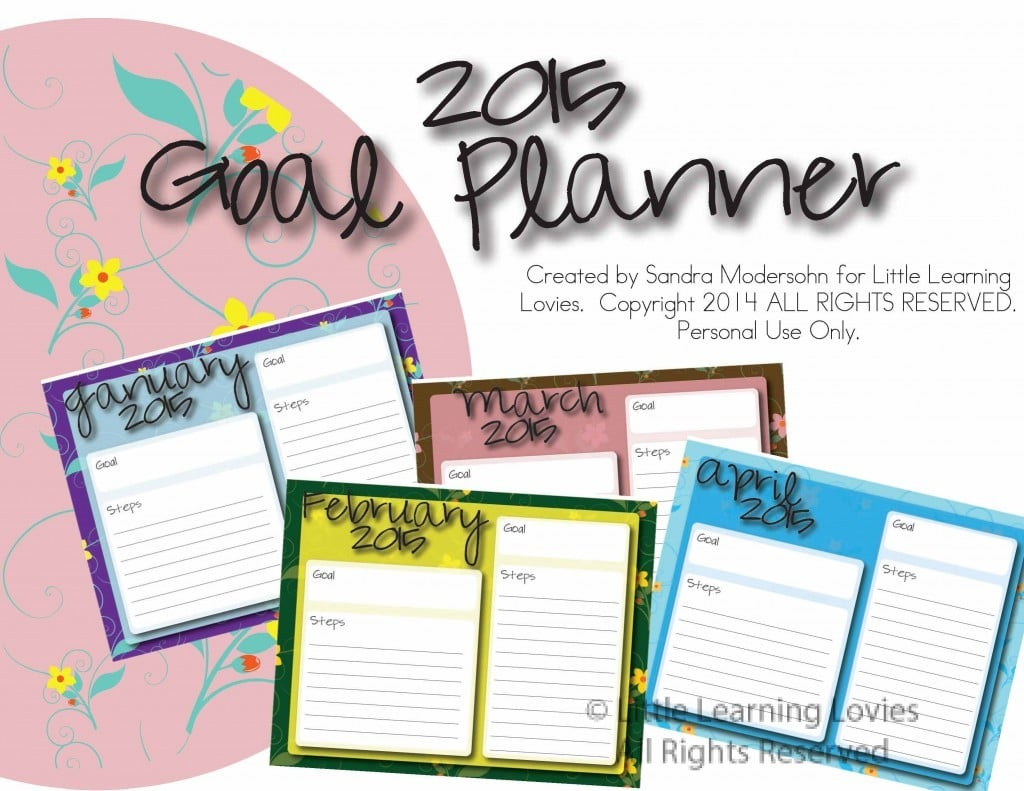 Make A PLAN and Reach Your GOALS in 2015!
