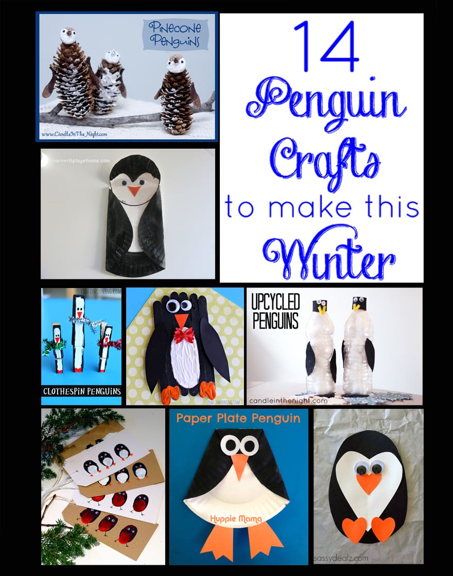 Try some of these fun penguin crafts to cheer up your home this winter!