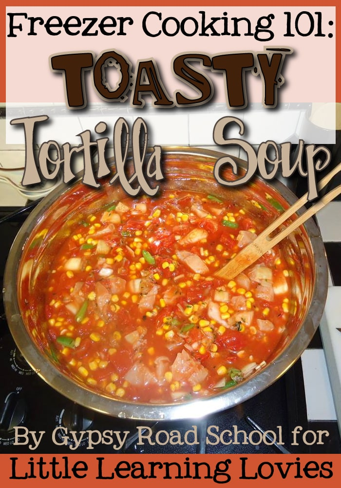 Delicious Tortilla Soup.  Make ahead and warm your family up all winter long.