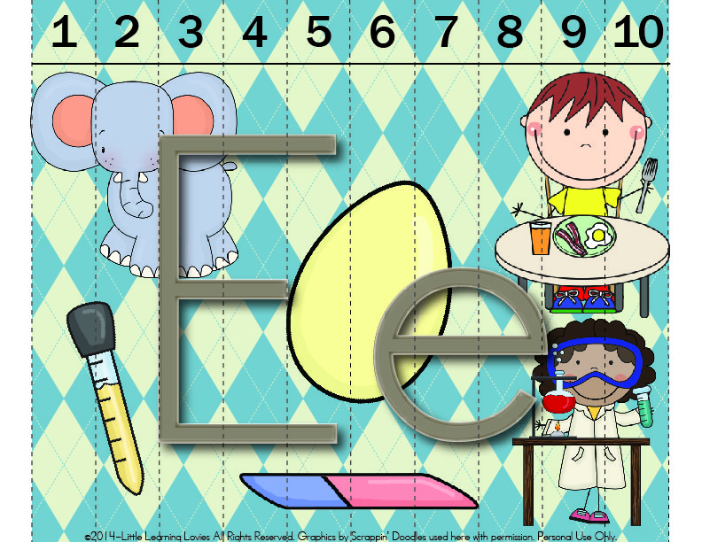 SOUNDS OF E Puzzle Freebie from Little Learning Lovies