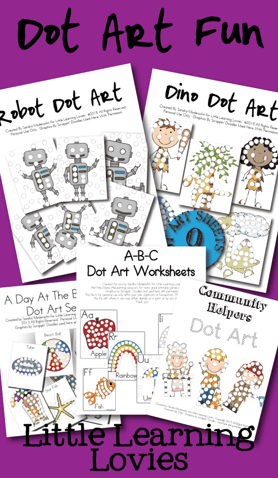 Find Lots Of GREAT Dot art at the Little Learning Lovies Store....  SO much fun!