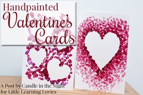 Make these Handpainted Valentines  with your kids and give something grandma and grandpa will love!