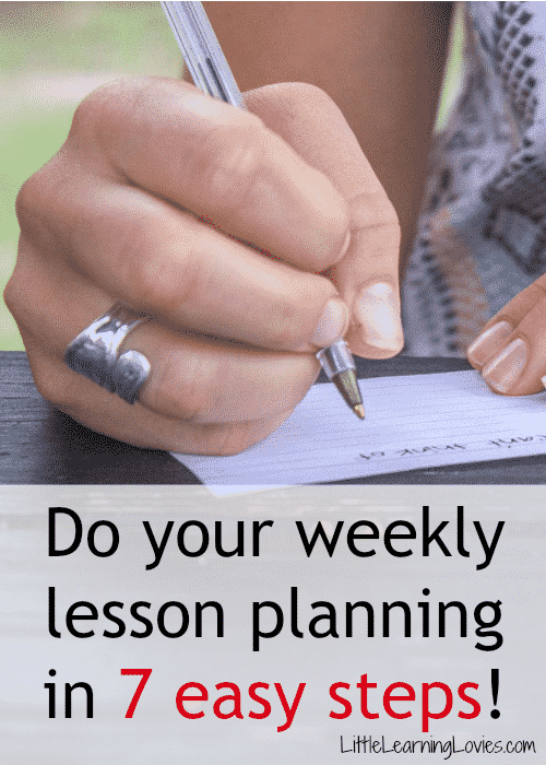 Get your weekly lesson planning done in 7 easy steps!