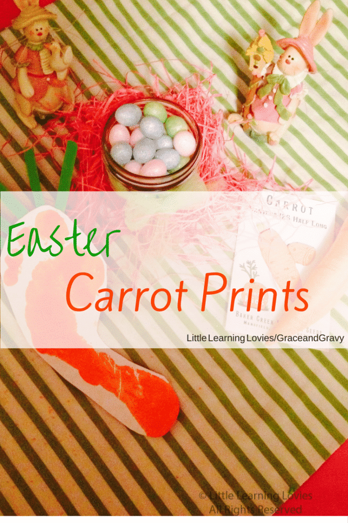 Easter Carrot Prints Craft for Preschoolers-Create lasting memories while your child has a fun time with paint.