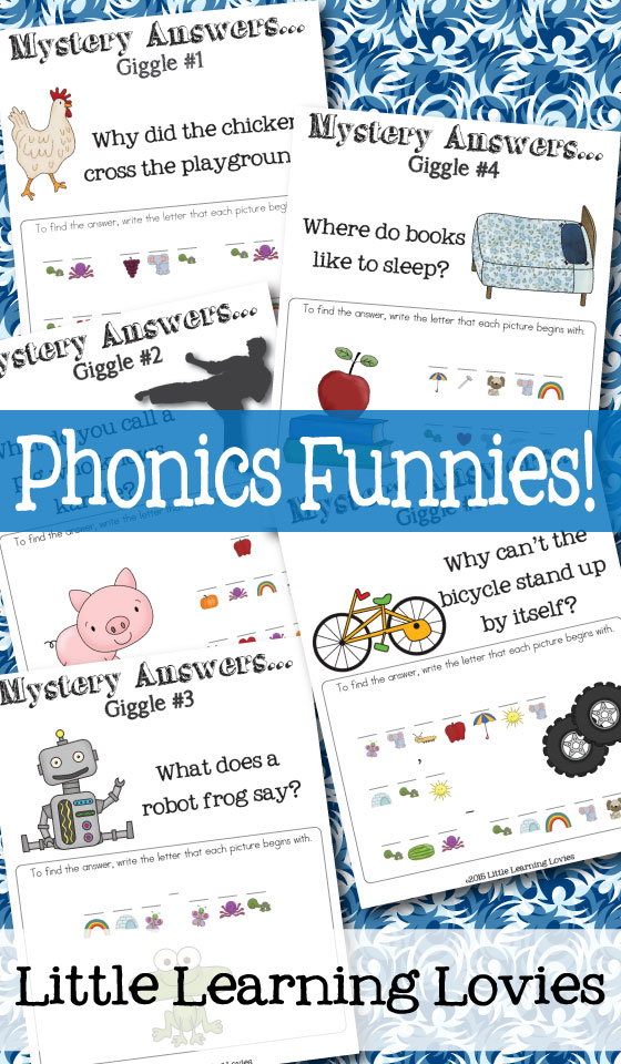 Practice phonics in a really funny way with Phonics Funnies!