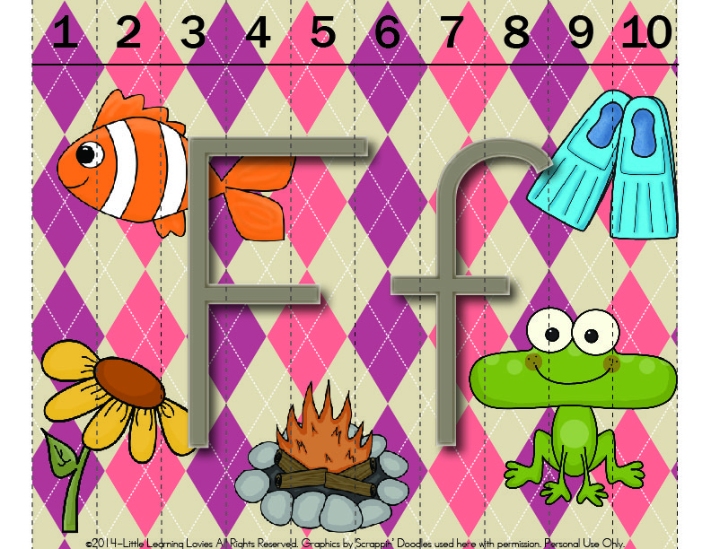 Fun Argyle Alphabet Sounds of F Puzzle for your little ones to learn letter sounds! Subscriber Freebie!