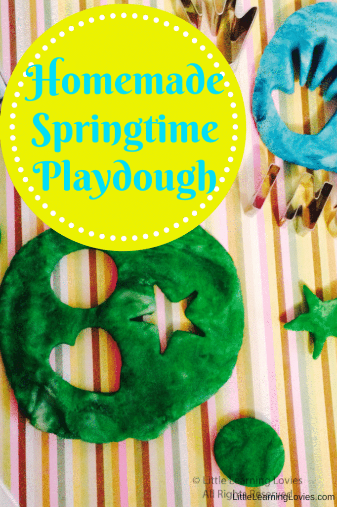 Homemade Springtime Playdough