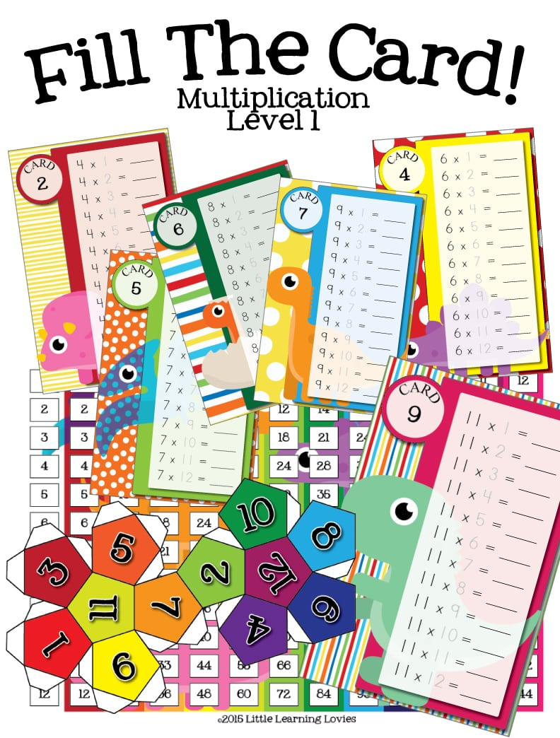FillTheCard-Multiplication-Dino-Theme-Level1-Tall-PINME
