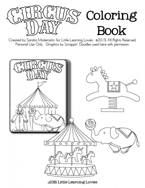 Free Circus Party Favor - Printable Mini Coloring Book