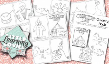 FREE Circus Day Mini Coloring Book Party Favor