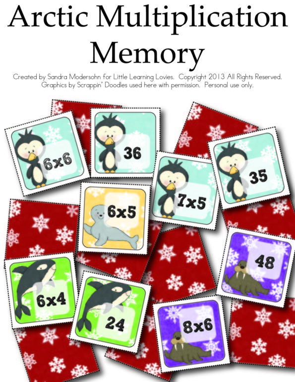 FREE Multiplication Memory Game Printable for Math Fact Mastery!
