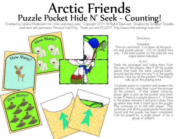 FREE Counting Hide And Seek Puzzle Printable game