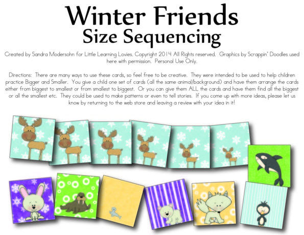 FREE Winter Size Sequencing