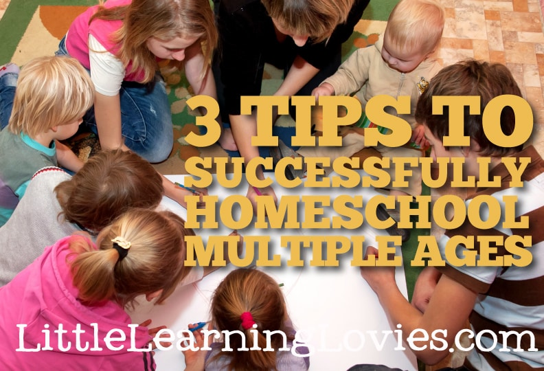 3 helpful tips give you the confidence you need to homeschool multiple ages without worry. You'll be amazed at how much your littler ones learn from your big kids!
