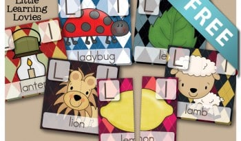 Free Letter L two part puzzles. Set of 6 puzzles are FREE and so fun to use as a reading game for preschool and kindergarten