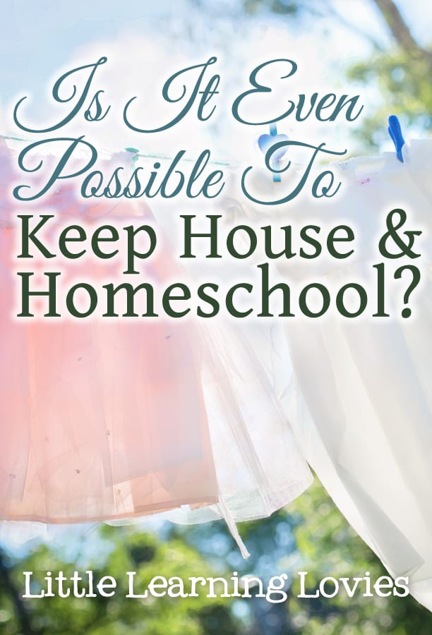Is it even possible to keep house AND homeschool at the same time? We'll look at some of the challenges I've faced and a few simple tips to help get it all back on track.