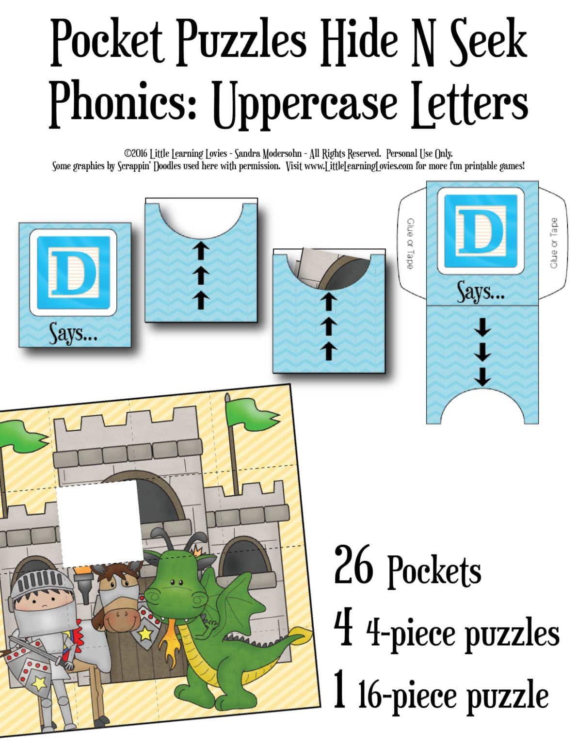PocketHideAndSeekGames-Phonics-Uppercase Letters : A fun Alphabet Game for PreK and Kindergarten