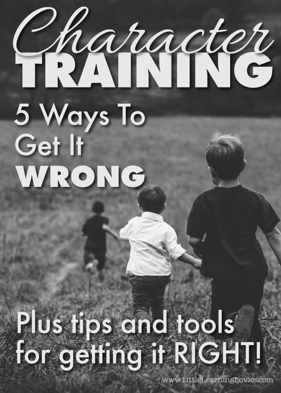 Character Training - Five Ways To Get It Wrong plus tips and tools to get it right!