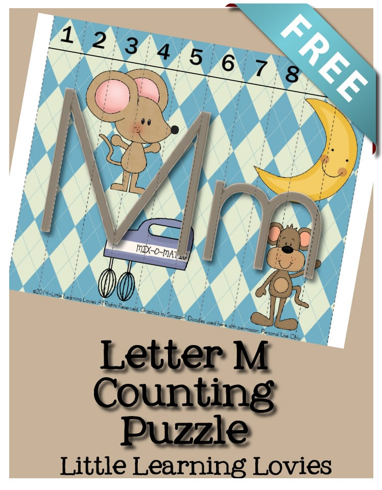 Free Sounds Of M puzzle teaches the sounds, letter recognition and counting from 1 to 10!