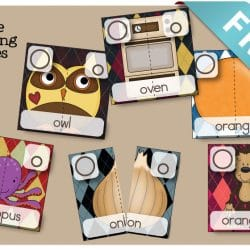2 Part Puzzles - Learn phonics, sight words, letter shape and so much more. Perfect Preschool Alphabet Activity