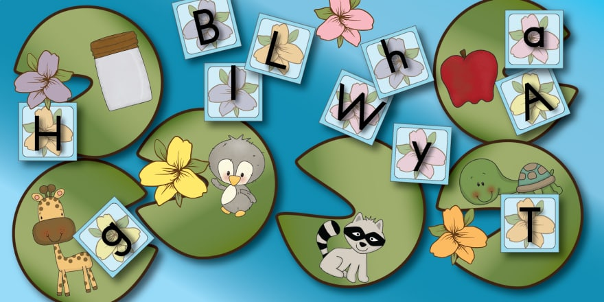 Free Leapin' Lily Pads Phonics Game can be played so many ways. Print in high quality on card stock. It's worth the ink and paper! You'll use it a LOT with your little learners. ENJOY!