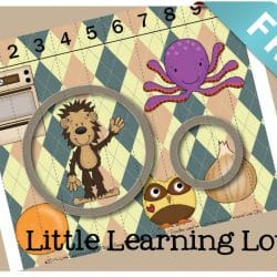 Learn Letter O with this great puzzle that teaches letter name, shape, sound, beginning sounds, and even how to count!