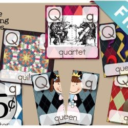 Letter Q 2 Part Puzzles are FREE and a great way to talk about letter sounds, beginning sounds, segmenting words, and great vocabulary!