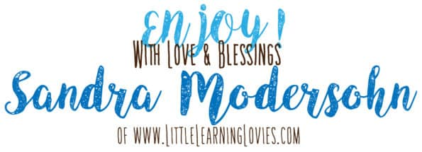 ENJOY with Love and Blessings,  Sandra Modersohn of www.LittleLearningLovies.com