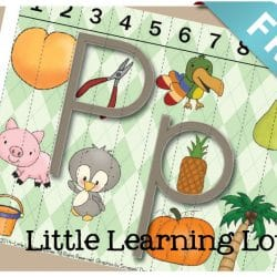 Letter P Sounds of P Counting Puzzle Strip Puzzle. Use this puzzle to teach letter P phonics, beginning sounds, counting and more!