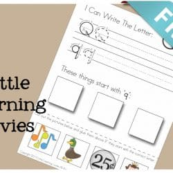 FREE Letter Q Write Cut and Paste activity from Little Learning Lovies.