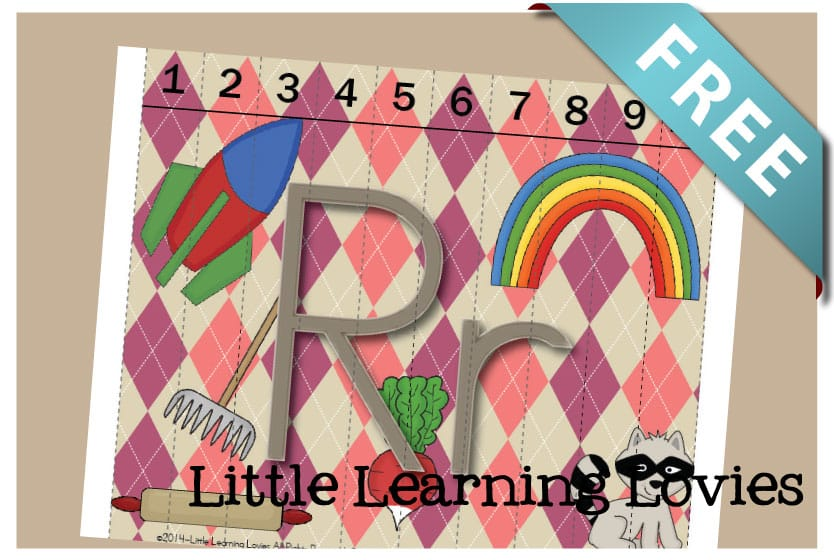 Sounds Of Q Counting Puzzle - Learn the Letter R as you practice counting to 10 to assemble this FREE Letter R Puzzle