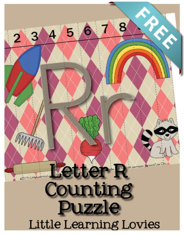 Sounds Of R Counting Puzzle - Learn the Letter R as you practice counting to 10 to assemble this FREE Letter R Puzzle