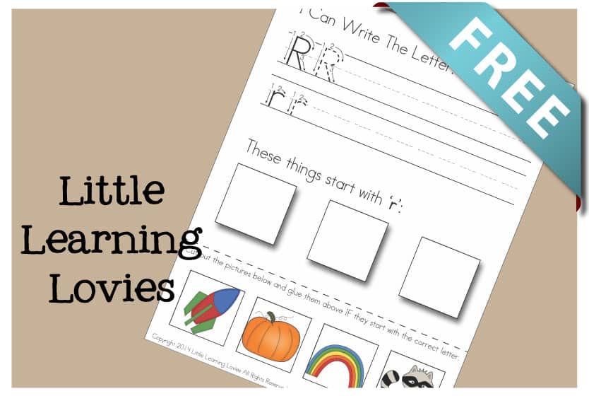 Letter R Cut And Paste Activity: Get this FREE Write Cut and Paste sheet for the Letter R. Phonics and handwriting, coordination, scissor skills and more packed into ONE sheet!
