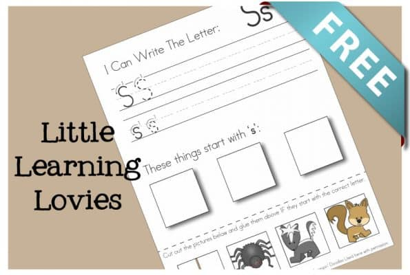 Letter S Cut And Paste Activity: Get this FREE Write Cut and Paste sheet for the Letter S. Phonics and handwriting, coordination, scissor skills and more packed into ONE sheet!