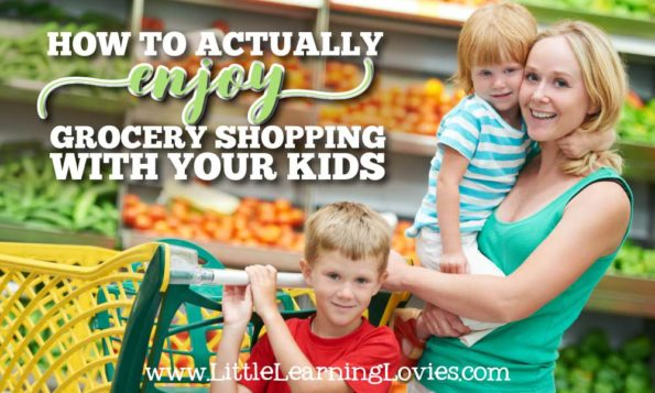 How to actually enjoy grocery shopping with your kids! It really is possible to look forward to taking them along!