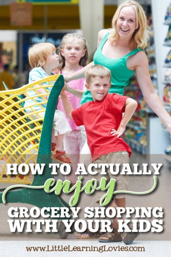 How to actually enjoy grocery shopping with your kids! It really is possible and I hope you take a moment to read this and see if you can look forward to taking them along!