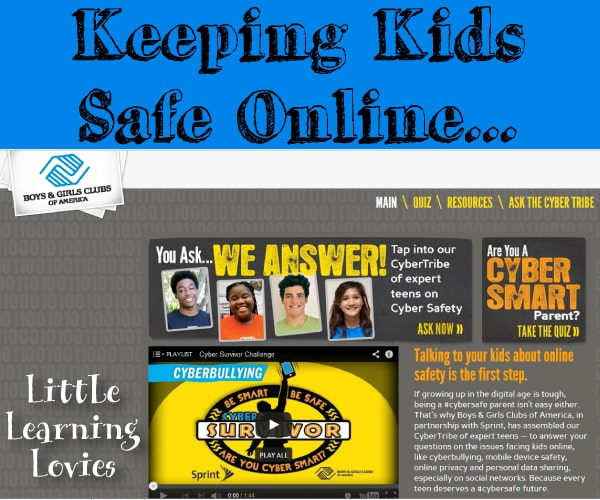 Keep kids safe online! Learn more about it at BGCA's Cyber Safe site