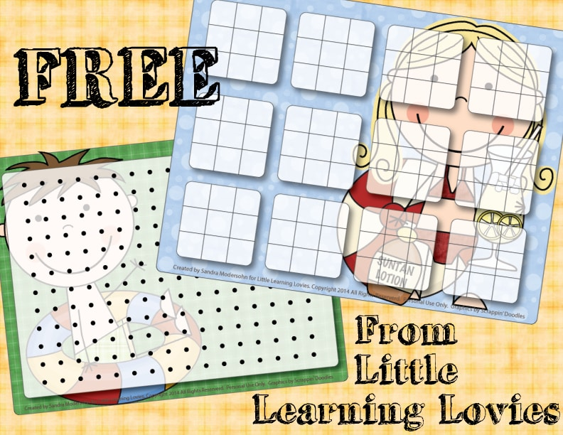 FREE Summer Fun printable classic games from Little Learning Lovies. Just laminate and break out the dry erase stuff to play over and over and SAVE ALL THAT PAPER! ♥