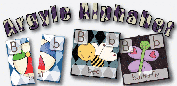 Subscriber Exclusive Freebie: Argyle Alphabet Letter B 2 Part Puzzles