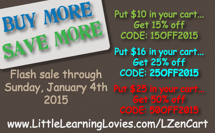 Buy More Save More New Year Sale at Little Learning Lovies